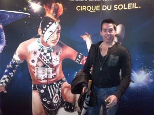 Glenn Cooper at the Cirque du Soleil with Ema Soriano