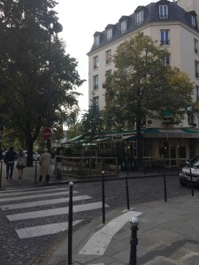 A well known cafe along the banks of the Seine River in the Marais section.