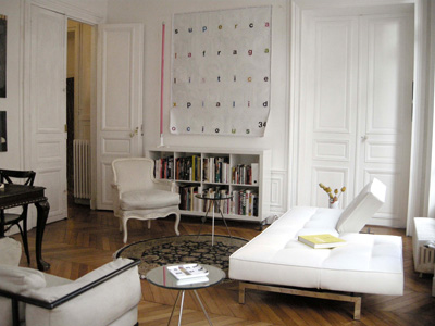 Paris apartment has original restored wood floors, cable tv and a stereo